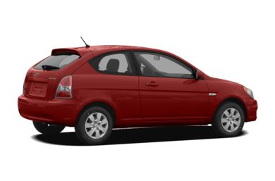 3/4 Rear Glamour  2009 Hyundai Accent