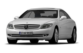 3/4 Front Glamour 2009 Mercedes-Benz CL600