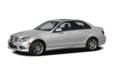 3/4 Front Glamour 2009 Mercedes-Benz C350