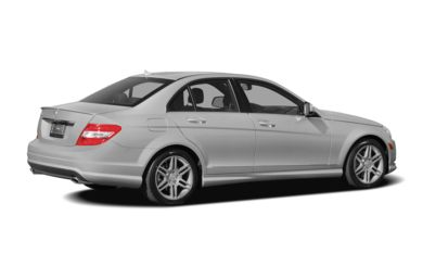 3/4 Rear Glamour  2009 Mercedes-Benz C350