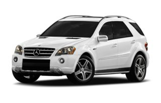 3/4 Front Glamour 2009 Mercedes-Benz ML63 AMG