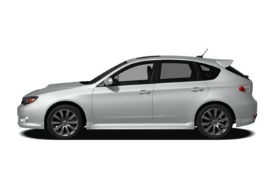 90 Degree Profile 2009 Subaru Impreza WRX