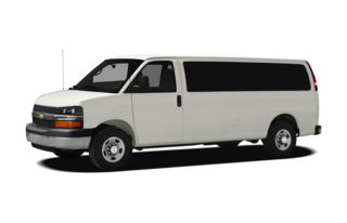 3/4 Front Glamour 2010 Chevrolet Express 1500