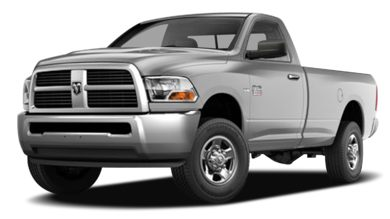 3/4 Front Glamour 2010 Dodge Ram 2500