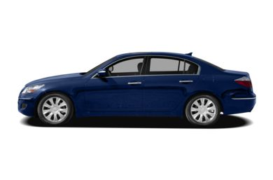 90 Degree Profile 2010 Hyundai Genesis Sedan