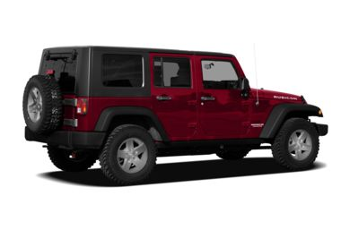 3/4 Rear Glamour  2010 Jeep Wrangler Unlimited