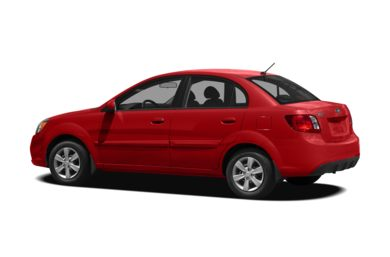 Surround 3/4 Rear - Drivers Side  2010 Kia Rio