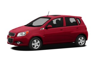 3/4 Front Glamour 2011 Chevrolet Aveo
