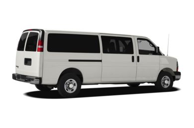 3/4 Rear Glamour  2011 Chevrolet Express 2500