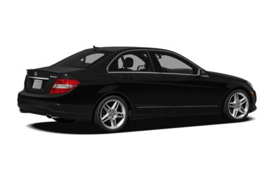 3/4 Rear Glamour  2011 Mercedes-Benz C350