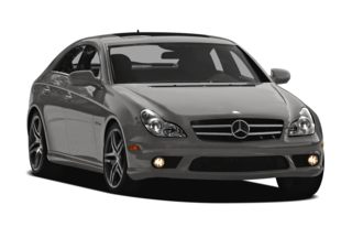 3/4 Front Glamour 2011 Mercedes-Benz CLS63 AMG
