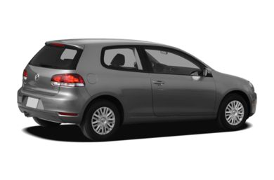 3/4 Rear Glamour  2011 Volkswagen Golf