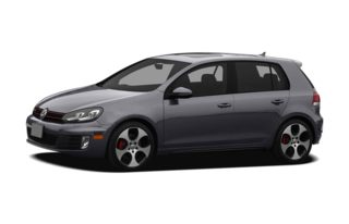 3/4 Front Glamour 2011 Volkswagen GTI