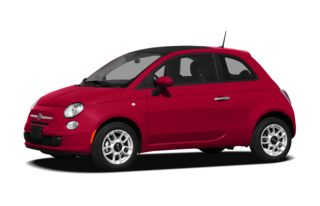 3/4 Front Glamour 2012 FIAT 500