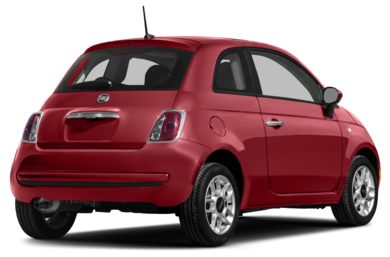 3/4 Rear Glamour  2012 FIAT 500