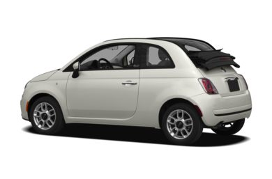 Surround 3/4 Rear - Drivers Side  2012 FIAT 500c