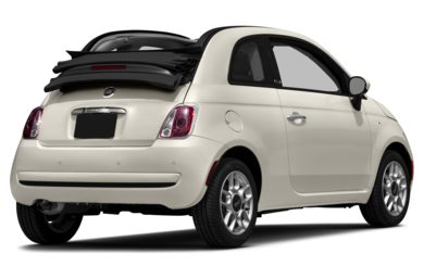 3/4 Rear Glamour  2012 FIAT 500c