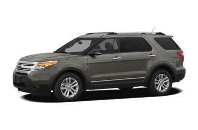 3/4 Front Glamour 2012 Ford Explorer