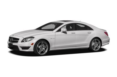3/4 Front Glamour 2012 Mercedes-Benz CLS63 AMG