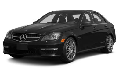 3/4 Front Glamour 2012 Mercedes-Benz C63 AMG