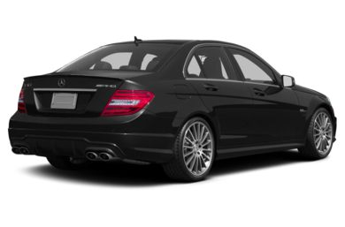 3/4 Rear Glamour  2012 Mercedes-Benz C63 AMG