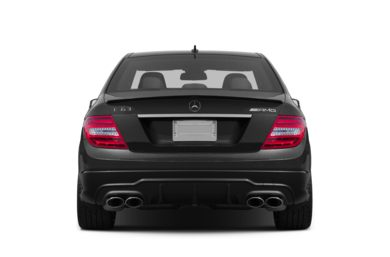 Rear Profile  2012 Mercedes-Benz C63 AMG