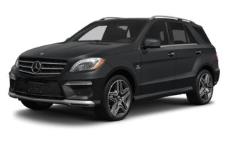 3/4 Front Glamour 2012 Mercedes-Benz ML63 AMG