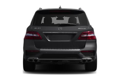 Rear Profile  2012 Mercedes-Benz ML63 AMG