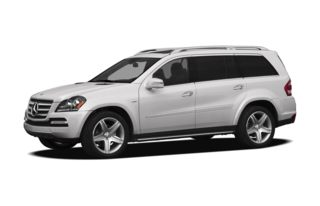 3/4 Front Glamour 2012 Mercedes-Benz GL550