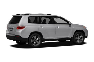 3/4 Rear Glamour  2012 Toyota Highlander