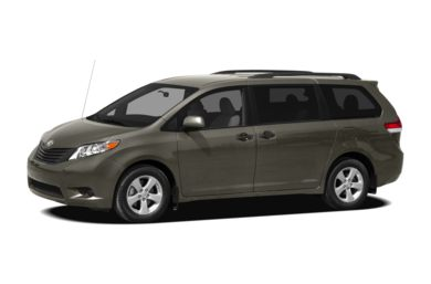 3/4 Front Glamour 2012 Toyota Sienna