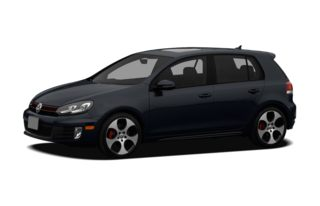 3/4 Front Glamour 2012 Volkswagen GTI