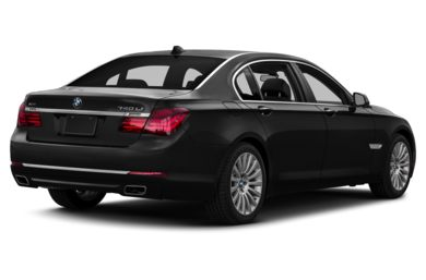 3/4 Rear Glamour  2013 BMW 740
