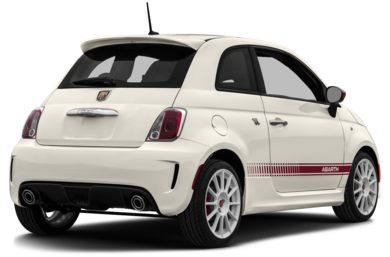 3/4 Rear Glamour  2013 FIAT 500