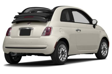 3/4 Rear Glamour  2013 FIAT 500c