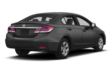 3/4 Rear Glamour  2013 Honda Civic