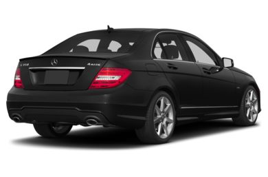 3/4 Rear Glamour  2013 Mercedes-Benz C350