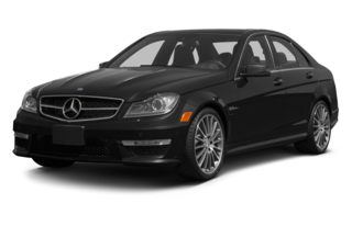 3/4 Front Glamour 2013 Mercedes-Benz C63 AMG