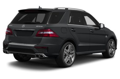 3/4 Rear Glamour  2013 Mercedes-Benz ML63 AMG