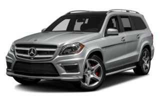 3/4 Front Glamour 2014 Mercedes-Benz GL63 AMG
