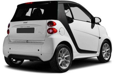 3/4 Rear Glamour  2013 smart fortwo electric drive