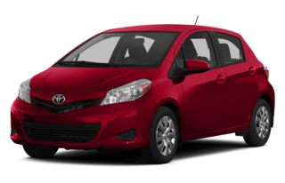 3/4 Front Glamour 2013 Toyota Yaris