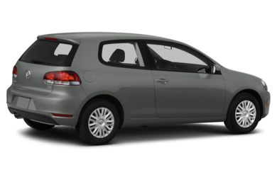 3/4 Rear Glamour  2013 Volkswagen Golf