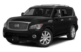 3/4 Front Glamour 2014 Infiniti QX80
