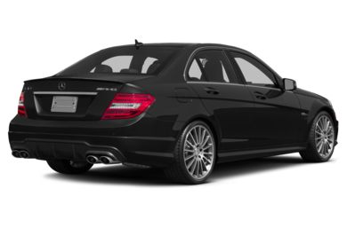 3/4 Rear Glamour  2014 Mercedes-Benz C63 AMG