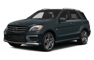 3/4 Front Glamour 2014 Mercedes-Benz ML63 AMG