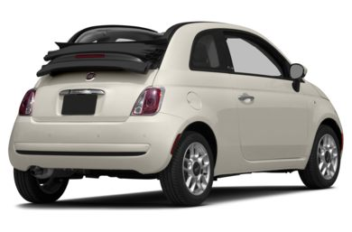 3/4 Rear Glamour  2015 FIAT 500c