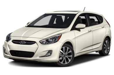 3/4 Front Glamour 2015 Hyundai Accent