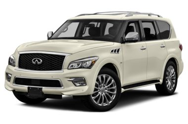 3/4 Front Glamour 2017 INFINITI QX80