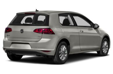 3/4 Rear Glamour  2015 Volkswagen Golf
